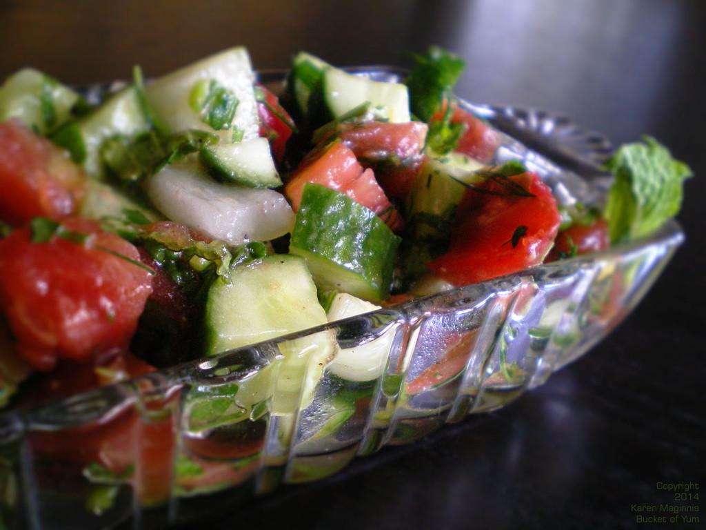 Cucumber Tomato Herb Salad