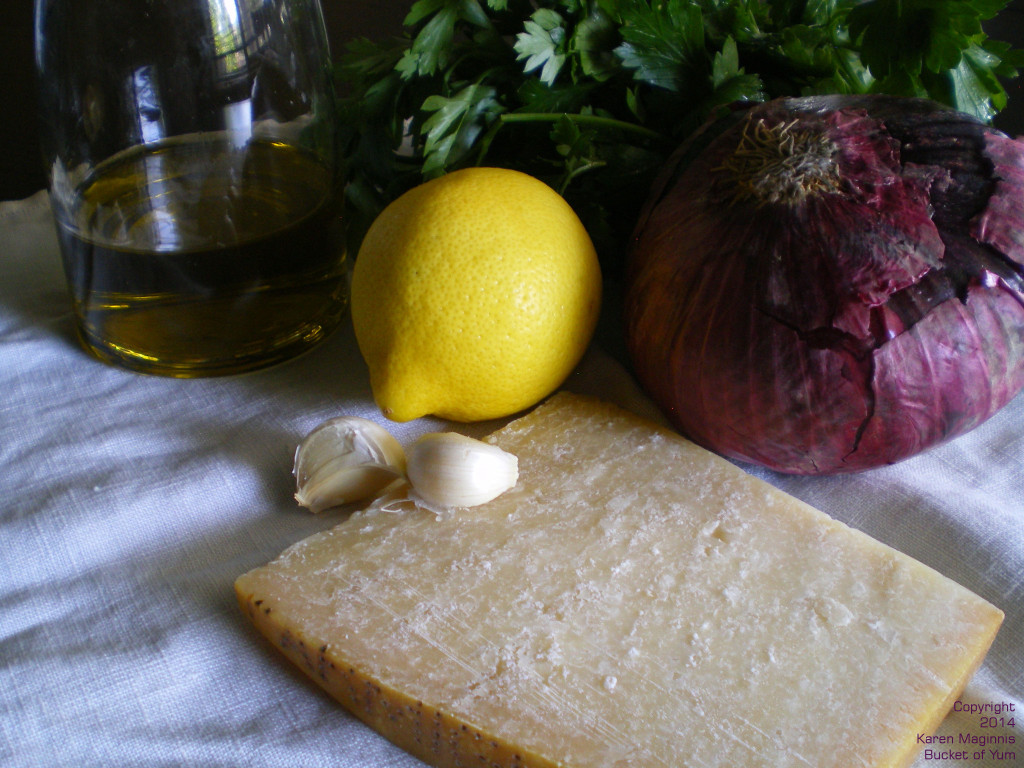Parmesan, olive oil, lemon, parsley...what is not to love?