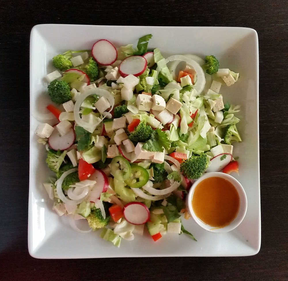 Salad with Satay Sauce