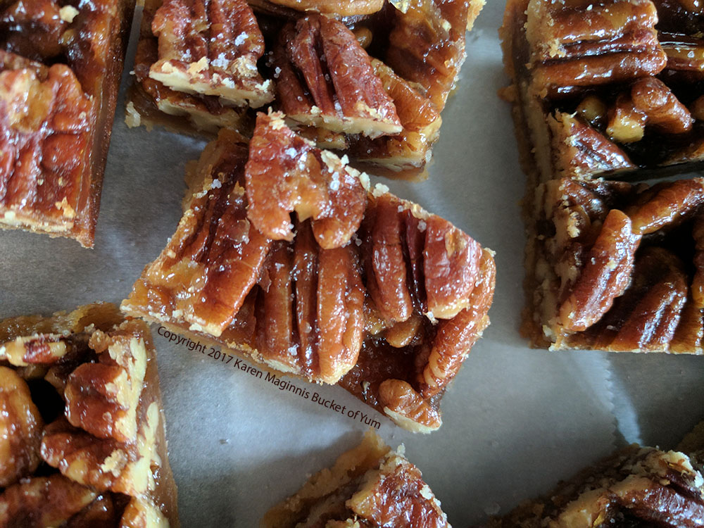 Pecan Bars – Nutty Salty Caramel Goodness